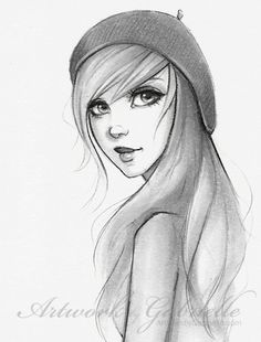 Cute Girl illustration / Ragazza dolce, disegno, illustrazione - Artwork by Gabrielle  (*gabbyd70 on deviantART)