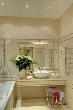 Фото интерьера санузла дома в стиле неоклассика