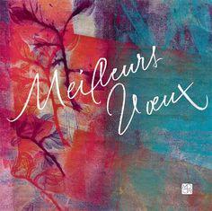 "Carte postale calligraphiée ""Meilleurs voeux"" par Marine PSM #calligraphie #calligraphy #best wishes"