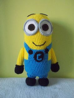 CROCHET MINION PATTERN - Instant Download - Despicable Me Pattern, yellow Minion, stuffed Toy,t on Etsy, $4.00