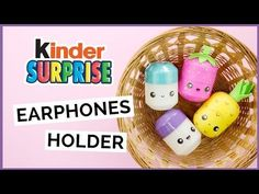 DIY Kinder Surprise Earphones Holder | DIY Surprise Egg Pill Box | DIY Surprise Egg Container - YouTube