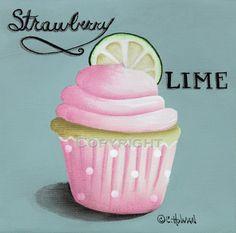 Cupcake Print Strawberry Lime. $16.95, via Etsy.