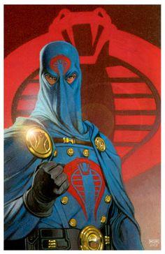 Cobra Commander, by Mike S. Miller and David Michael Beck Thundercats, Science Fiction, Cobra Art, Marvel Comics Superheroes, Cobra Commander, Morning Cartoon, Gi Joe Cobra, Cinema, The Villain