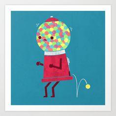 When You Gotta Go Art Print by Teo Zirinis - $16.00 // nieces for Christmas