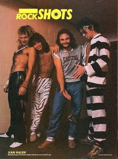 "Van Halen appear`s on - "" The Rock Shot "" - page of "" Creem "" Magazine - 1982"