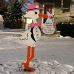 Click here for info on renting a stork yard sign for your lawn in the Des Moines, Iowa area! http://www.urbanstorks.com/pricing/ - $75 for 5-day rental