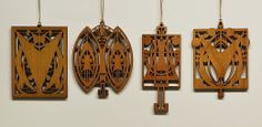 Fair Oak Workshops - Contemporary Arts & Crafts Furnishings and Accessories [Louis Sullivan & George Elmslie Laser Cut Ornaments]