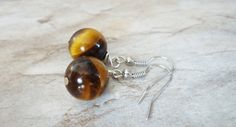 Earrings Tiger's Eye Earrings Genuine Tiger Eye by StrokesandStone Gemstone Earrings, Etsy Earrings, Earrings Handmade, Tiger Eye Earrings, Gemstones, Jewelry, Jewlery, Gems, Bijoux
