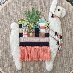 Lil succulent toting llama (where's the llama emoji?!) @fuzzyandflora
