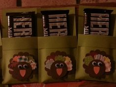 Thanksgiving Candy Bar Holders Rustic Thanksgiving, Thanksgiving Crafts, Candy Bar Covers, Hershey Bar, Candy Bar Wrappers, All Holidays, Fall Cards, Lunch Box, Wraps