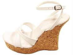 Mixed Items and Lots 63889: Tony Shoes W543-5 High Heel Cork Wedge Platform Ankle Strap Sandals White -> BUY IT NOW ONLY: $32 on eBay!