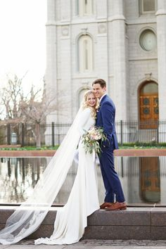 modest wedding dress with long sleeves from alta moda. -- (modest bridal gown) photo by amber shaw