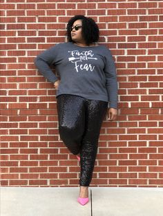 plus size outfits casual,plus size outfits for work,plus size outfits for going out,plus size outfits on a budget Casual Plus Size Outfits, Casual Clothes, Faith Over Fear, Going Out Outfits, Girl Blog, Plus Size Fashion, Graphic Tees, Curvy, Lady
