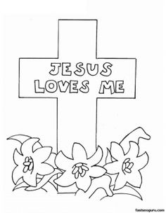 Printable Easter Jesus Loves Me Coloring Pages - Printable Coloring Pages For Kids