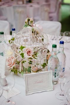 Love the bird cage idea!  Over 70 Truly Amazing Wedding Reception Ideas - MODwedding
