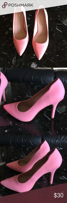 Aldo pink heels Pink aldo heels! in great condition , size 7, heel is about 4 inches Aldo Shoes Heels