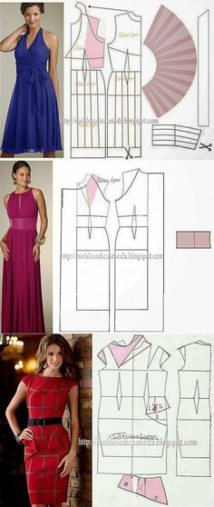 платья-выкройки. Diy Clothing, Sewing Clothes, Clothing Patterns, Modelista, Make Your Own Clothes, Dress Making Patterns, Diy Fashion, Fashion Design, Creation Couture