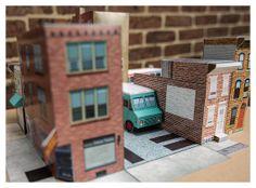 Philadelphia Vehicle Set papercraft kit by GrandCircus on Etsy