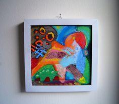 original Acrylmalerei Bild abstrakt klein auf von SuseundMuse