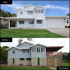 Queenslander Renovation- This renovation involved a house raise and complete build under; including a new kitchen, dining, lounge, bedroom, guest bathroom, laundry and alfresco. Modifications to the first floor were also made to incorporate a family room, master room with en-suite, two bedrooms and a main bathroom/toilet. #renovation #remodel #homeimprovement
