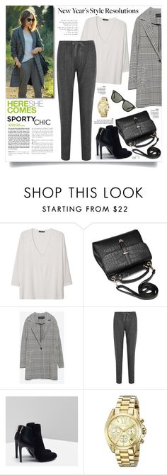 """""""New Year's Style Resolution"""" by kiki-bi ❤ liked on Polyvore featuring MANGO, Zara, Isabel Marant, Andrea, Michael Kors and Ray-Ban"""