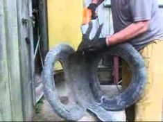 How to make swans from tires Tire Garden, Garden Deco, Garden Crafts, Garden Projects, Tire Playground, Tire Craft, Tire Furniture, Reuse Old Tires, Tire Planters