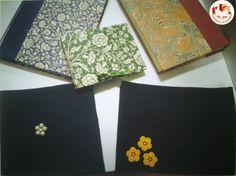 Quaderni cuciti a mano e rilegati in carta a fantasia o con feltro. Fatto da noi: www.rilegoerileggo.org