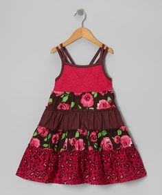 Take a look at this Pink & Brown Rose Dress - Toddler & Girls on zulily today!