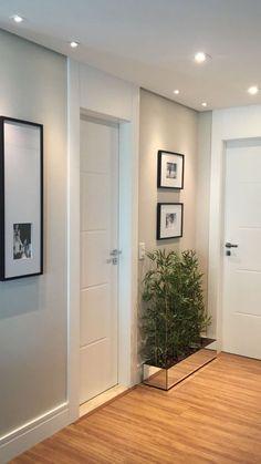 Porta kit pronto especial com pintura de laca P.U branco acetinado (Sayerlack) - Ecoville Portas Especiais Door Design, Hallway Decorating, House, Interior, Home, House Interior, Apartment Decor, Home Deco, Home Interior Design