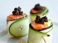 Découvrez la recette Sushis chics sur cuisineactuelle.fr.