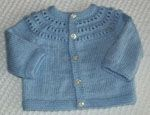 Lovely Baby Cardigan. Good tutorial too.