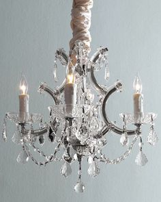 Four-Light+Maria+Theresa+Chandelier+at+Neiman+Marcus.