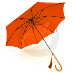 Fox Umbrellas Ladies Leather Handle Umbrella WL1 - Vivid Orange - Handmade in England by Fox. in Stock at Country Kit £110.00 #Rain #Accessories