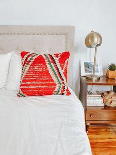 183 - Kilim Pillow — Lucky Collective Orange Throw Pillows, Diy Pillows, How To Make Pillows, Wool Pillows, Silk Pillow, Lumbar Pillow, Pillow Cases, Floor Cushions, Pillow Inserts