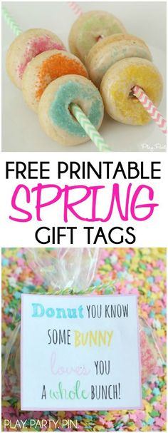 Egg cellent free easter gift tags includes teacher and neighbor love this cute spring or easter gift idea give someone mini donuts with this free negle Image collections