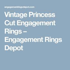 Vintage Princess Cut Engagement Rings – Engagement Rings Depot