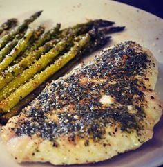 Baked Red Snapper and Balsamic Parmesan Asparagus | Simple Dish | Quick, Easy, & Healthy Recipes for Dinner