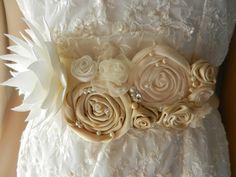 Bridal Sash Wedding Dress Sashes Belts Sashes by BlossomSashes   Wedding Dresses   Bridal & Bridesmaid, Formal Gowns