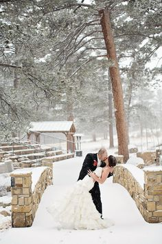Snowy Wedding At Della Terra In Estes Park Colorado Photos By Rhema Faith Photography