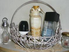 wire shabby basket