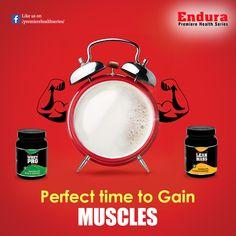 Endura Premiere Health Series - Perfect time to Gain Muscles  #EnduraPremiereHealthSeries #WheyProtein #ProteinPowder #BodybuildingSupplements #IndianBodybuildingSupplements