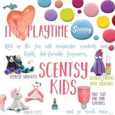 Deliciously scented products complemented with their favorite Scentsy scent! Contact a Scentsy consultant today to buy! Facebook Party, For Facebook, Scentsy Games, Kids Line, Scentsy Independent Consultant, Kids Bath, Gifts For Kids, Fragrance, Diffusers
