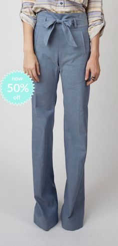 Vanessa Pant-Chambray Now 50%off!