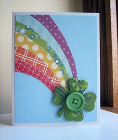 Rainbow & Shamrock card - pinned by Colleen Hastings Independent Stampin' UP! Demonstrator