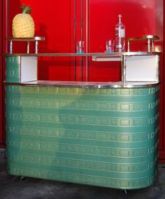 We love our Kitsch 1950s Green Metallic Cocktail Bar. Fab Condition
