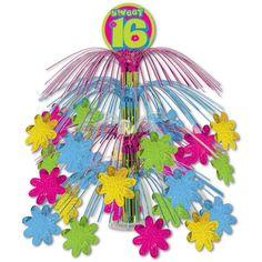 Birthday Party Sweet 16 Cascade Centerpiece (6ct)