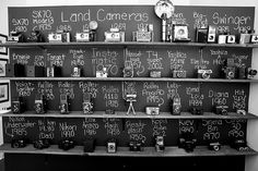 Our Vintage Camera collection currently on display at A Nerd's World 986 Bathurst Street in Toronto.