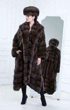 Russian Sable Fur Coat and Hat