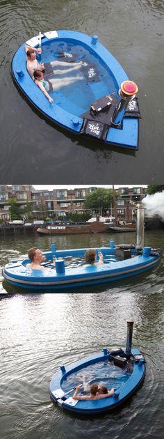 A Floating Hot Tub Boat