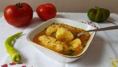 Supa de rosii cu galuste pufoase de gris Potato Salad, Potatoes, Ethnic Recipes, Food, Potato, Essen, Meals, Yemek, Eten
